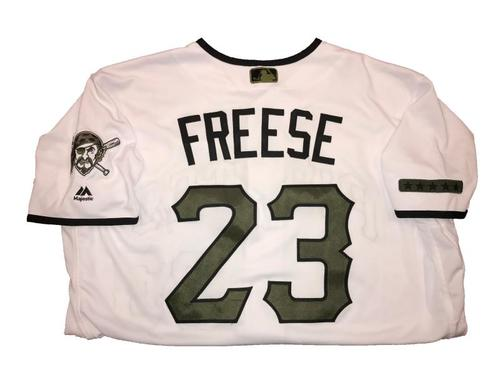 Photo of David Freese Game-Used Memorial Day Weekend Jersey