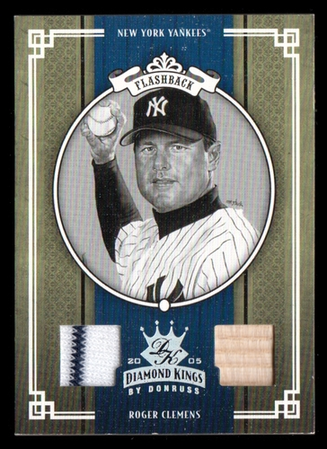 Photo of 2005 Diamond Kings Materials Silver B/W #278 Roger Clemens Yanks Bat-Jsy/50