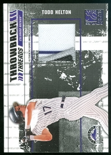 Photo of 2003 Donruss Elite Throwback Threads #40 Todd Helton