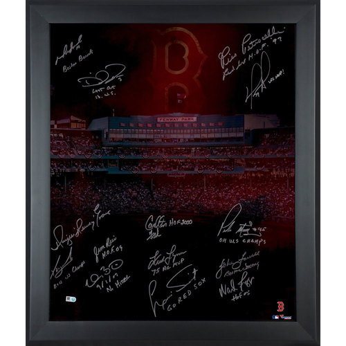 Photo of Boston Red Sox Framed 20'' x 24'' In Focus Photograph with Multiple Inscriptions & Signatures-#1 of a Limited Edition of 12