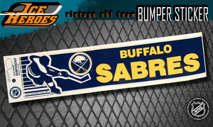 Vintage NHL BUFFALO SABRES Bumper Sticker - Unused - NOS - NM - STYLE B