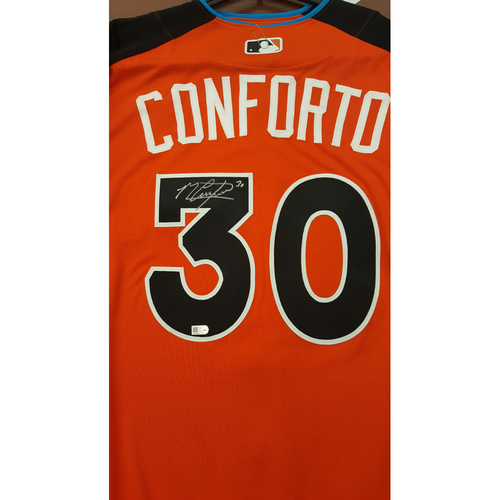 Photo of Michael Conforto 2017 Major League Baseball Workout Day/Home Run Derby Autographed Jersey