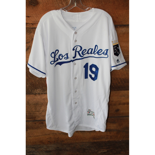 Photo of Game-Used Jersey: Cheslor Cuthbert (6/24/17 - TOR at KC - Size 48)