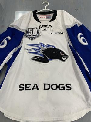 2018/2019 Michael Campoli Game Worn Saint John Sea Dogs White Jersey