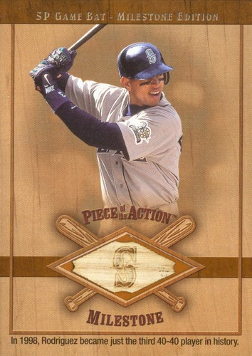 Photo of 2001 SP Game Bat Milestone Piece of Action Milestone #AR Alex Rodriguez Mariners