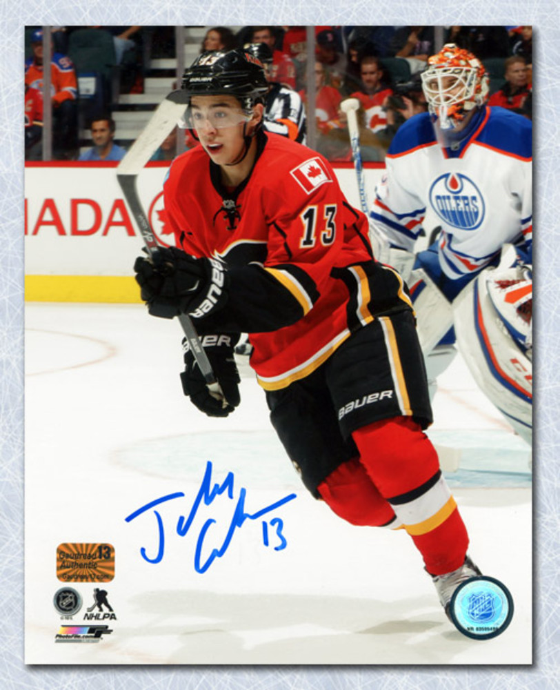 Johnny Gaudreau Calgary Flames Autographed Battle of Alberta 8x10 Photo