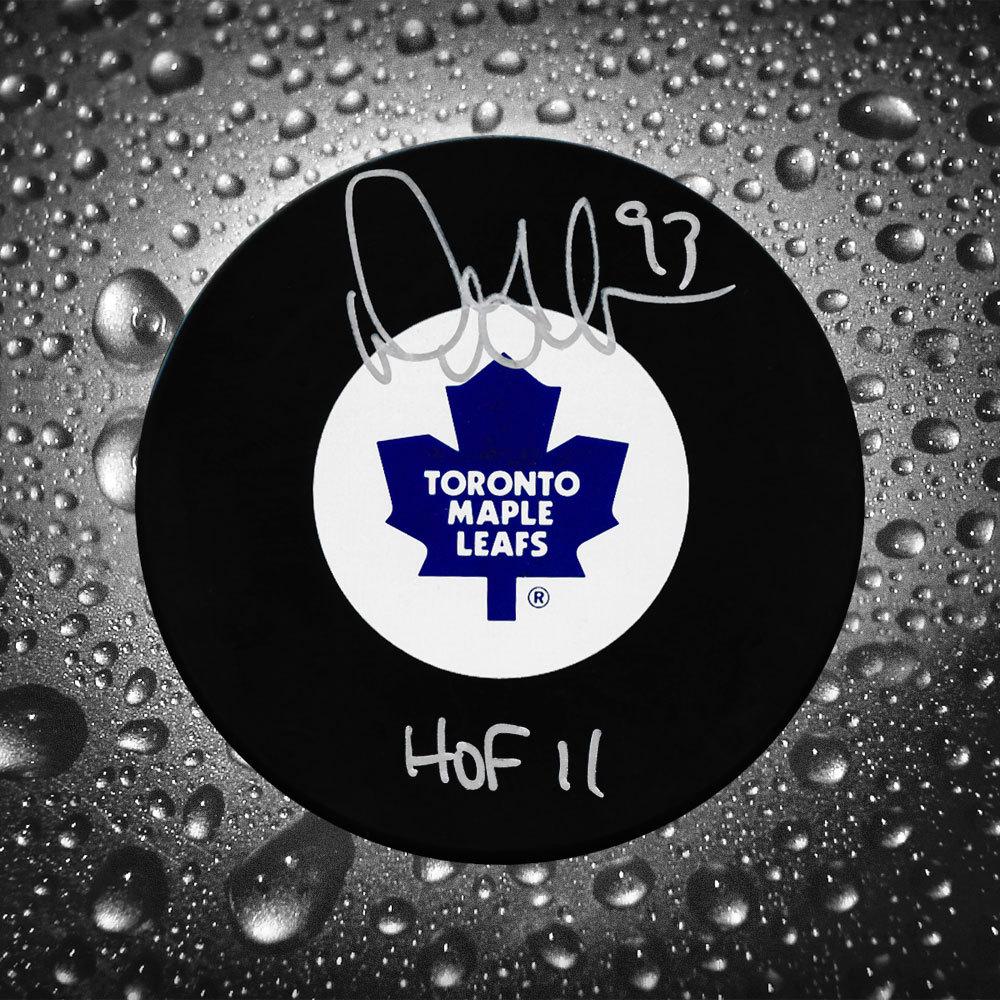 Doug Gilmour Toronto Maple Leafs HOF 2011 Autographed Puck