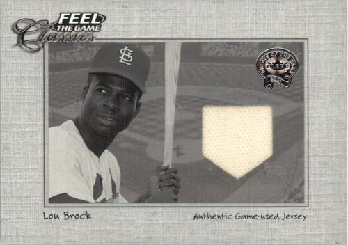 Photo of 2001 Greats of the Game Feel the Game Classics #3 Lou Brock Jsy
