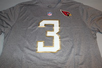 NFL - CARDINALS CARSON PALMER 2016 PRO BOWL LIGHT GRAY T-SHIRT WITH NAME AND NUMBER - SIZE 2XL