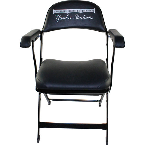 Photo of Carlos Gonzalez New York Yankees 2016 Game-Used #5 Visiting Clubhouse Chair (6/21/2016)