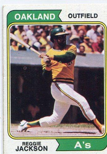 Photo of 1974 Topps #130 Reggie Jackson -- Hall of Famer