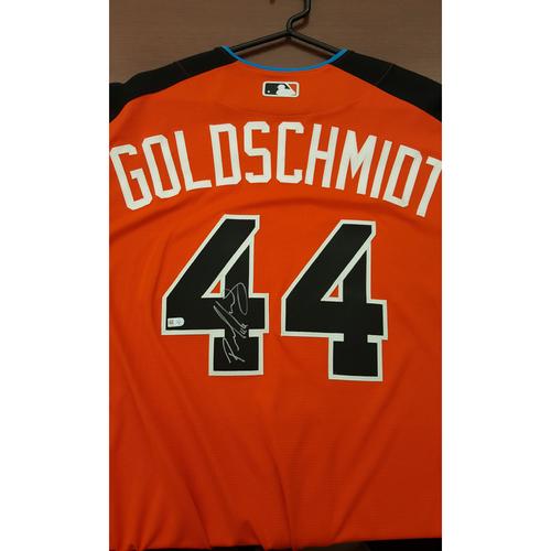 Photo of Paul Goldschmidt 2017 Major League Baseball Workout Day/Home Run Derby Autographed Jersey