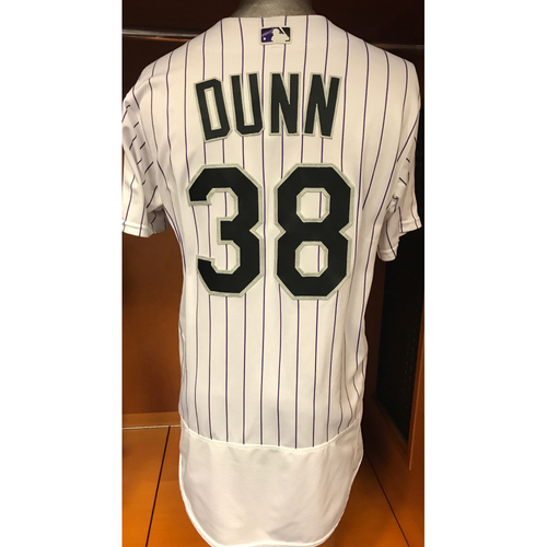 Photo of Colorado Rockies Mike Dunn Game Used Jersey to Aid Hurricane Harvey Relief Efforts