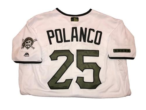 Photo of Gregory Polanco Game-Used Memorial Day Weekend Jersey