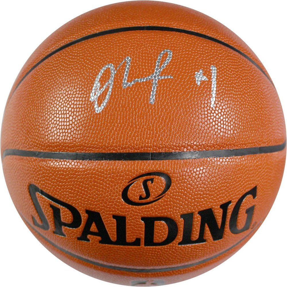 D'Angelo Russell Signed Spalding I/O NBA Orange Basketball