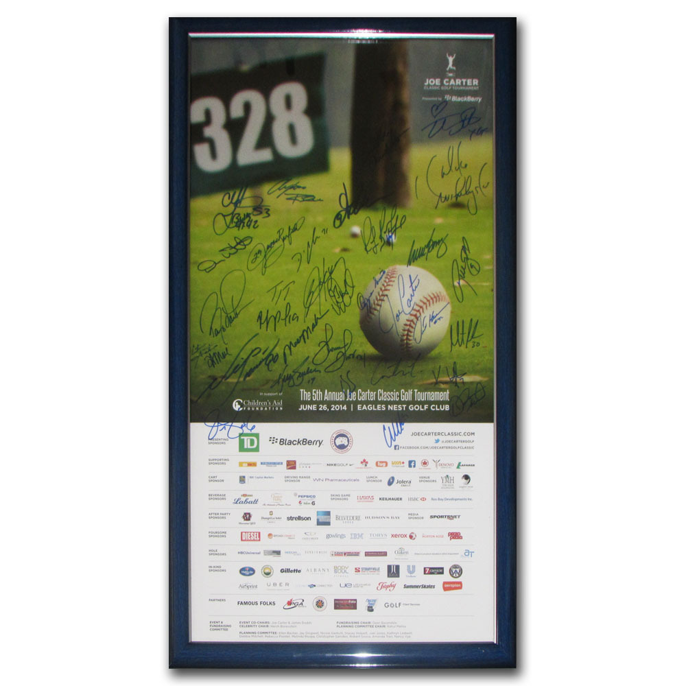 2014 Joe Carter Classic Golf Tournament Framed Poster - Signed by 33 Athletes & Celebrities