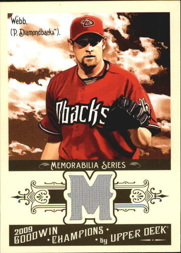 Photo of 2009 Upper Deck Goodwin Champions Memorabilia #BW Brandon Webb
