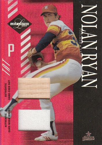 Photo of 2003 Leaf Limited TNT #160 N.Ryan Astros Bat-Jsy