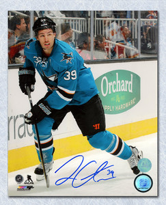 Logan Couture San Jose Sharks Autographed Game Action 8x10 Photo