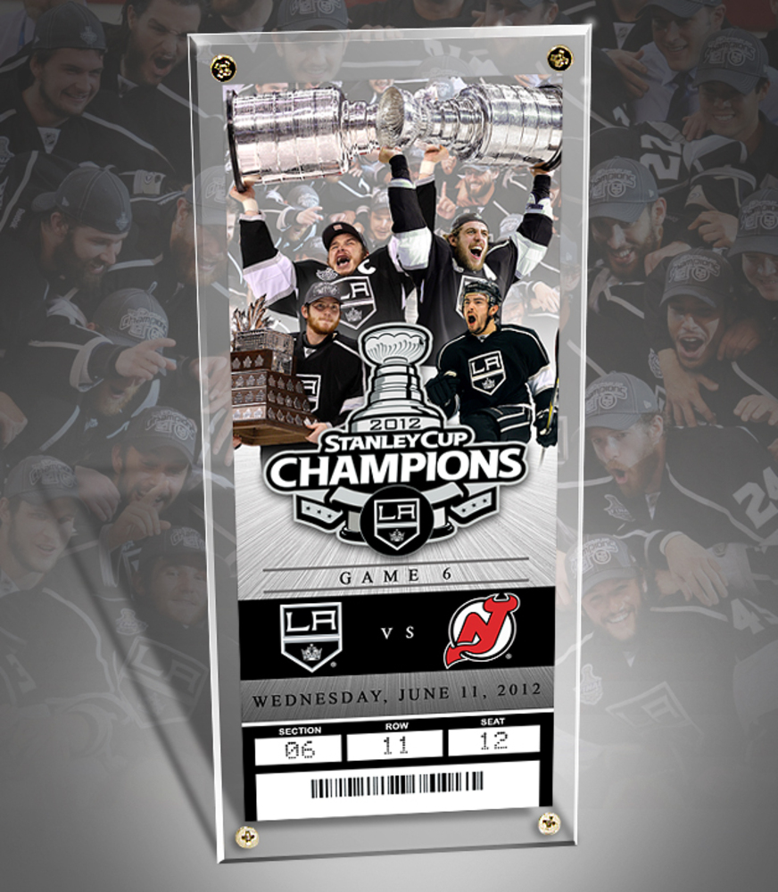 LOS ANGELES KINGS 2012 NHL STANLEY CUP CHAMPS- Commemorative Ticket & Display Case