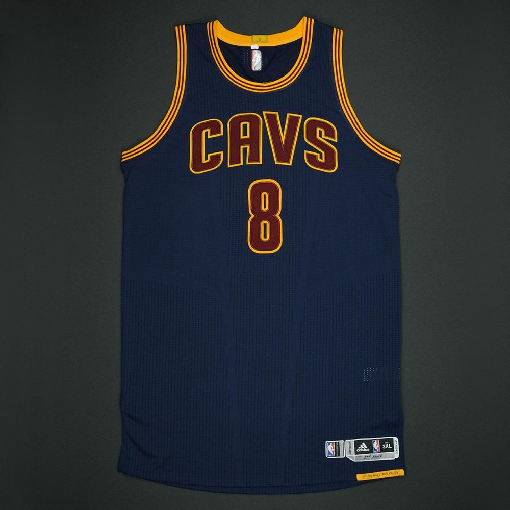 Channing Frye - Cleveland Cavaliers - 2017 NBA Finals - Game 1 - Game-Worn Navy 2nd Half Only Jersey - Dressed, Did Not Play