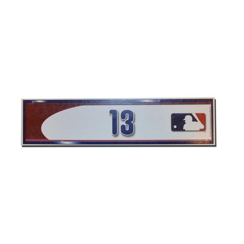 Photo of Asdrubal Cabrera #13 - Game Used Locker Nameplate - Mets Clinch Playoff Berth - Mets vs. Phillies - 10/1/16