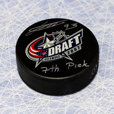 Jakub Voracek 2007 NHL Draft Day Puck Autographed w/ 7th Pick Inscription *Halifax Mooseheads*