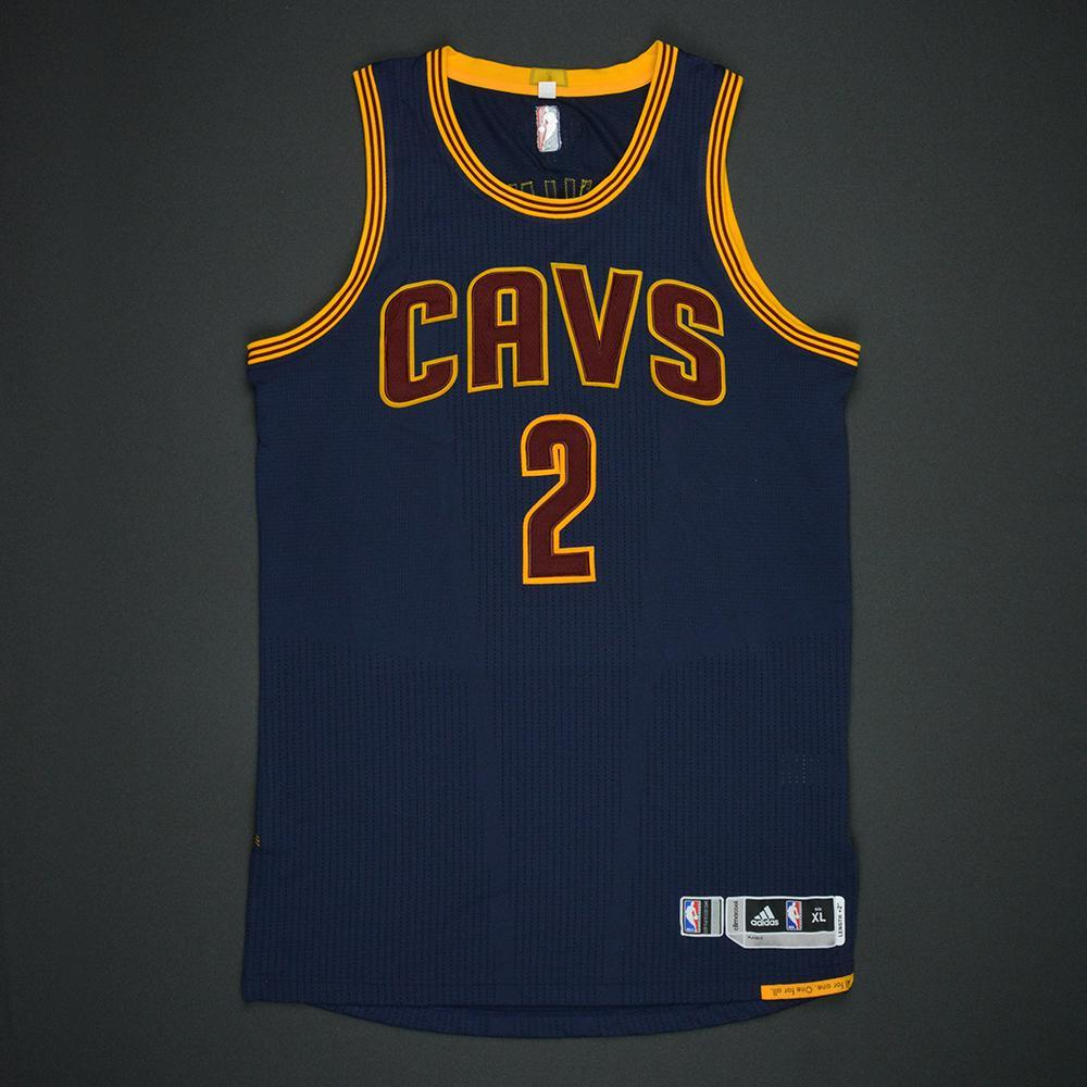 Kyrie Irving - Cleveland Cavaliers - 2017 NBA Finals - Game 1 - Game-Worn Navy Jersey