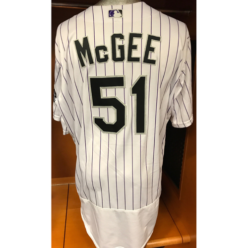 Photo of Colorado Rockies Jake McGee Game Used Jersey to Aid Hurricane Harvey Relief Efforts