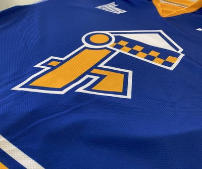 Official game worn and autographed Hull Festival jersey (1973) - Zach Dean.