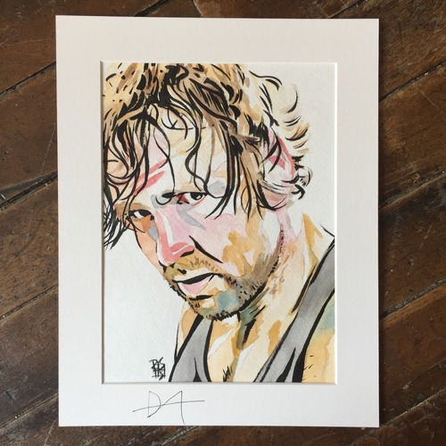 Photo of Dean Ambrose SIGNED Rob Schamberger Painting
