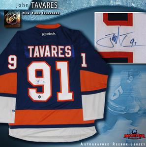 JOHN TAVARES Signed New York Islanders Blue Reebok Jersey