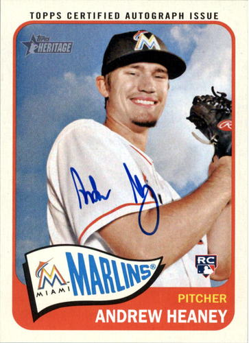 Photo of 2014 Topps Heritage Real One Autographs #ROAAH Andrew Heaney HN High Numbers