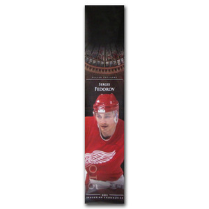 Sergei Fedorov Detroit Red Wings Banner Once on Display at the Hockey Hall of Fame