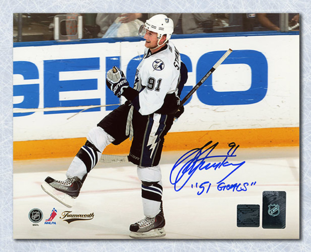 Steven Stamkos Tampa Bay Lightning Autographed 8x10 Photo with 51st Goals Note