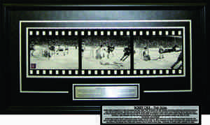 Bobby Orr - Signed & Framed Filmstrip - The Goal