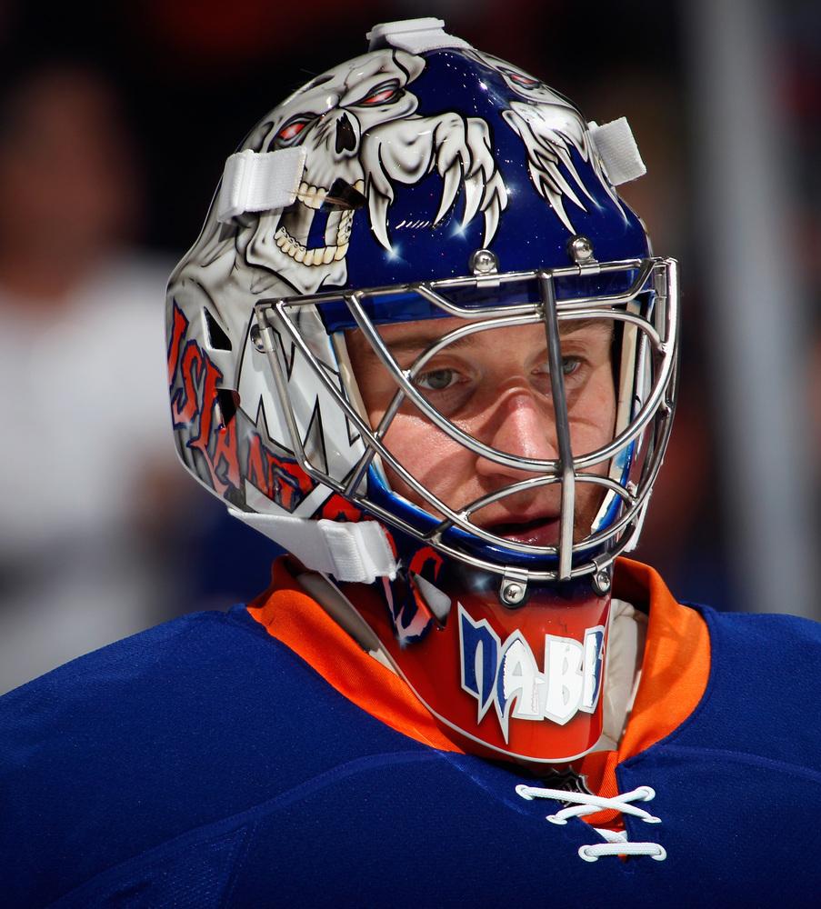 Jersey off the Back of Evgeni Nabokov - New York Islanders