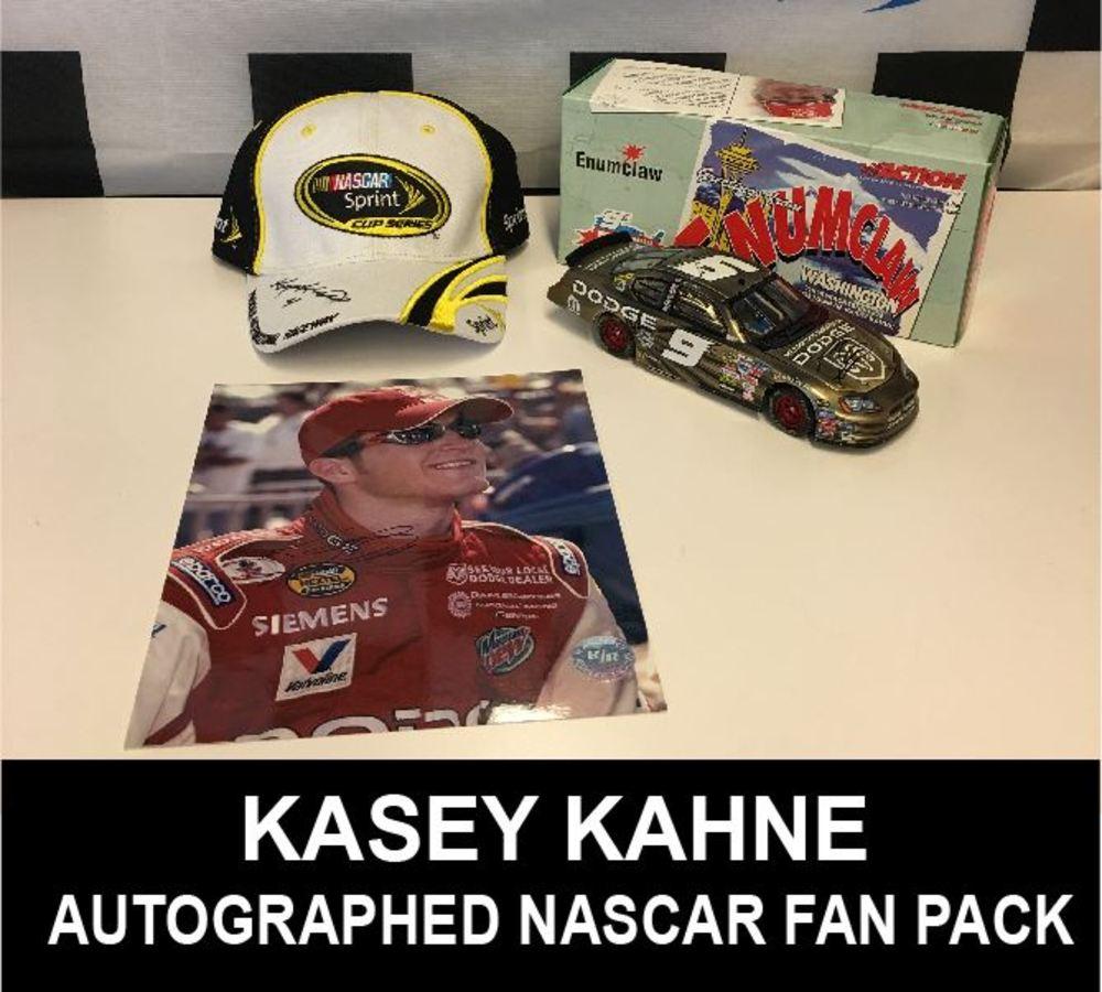 Autographed Kasey Kahne NASCAR Fan Pack!!!!