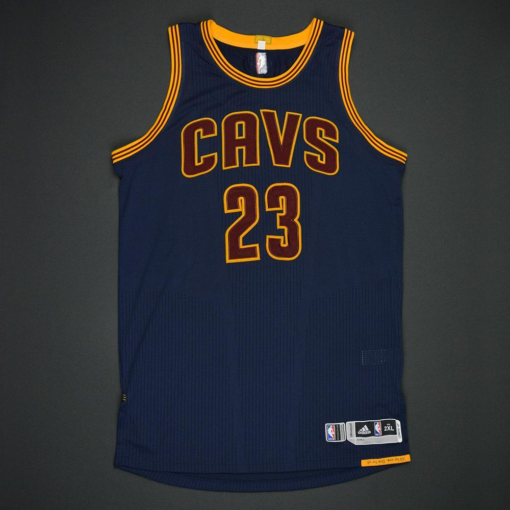 LeBron James - Cleveland Cavaliers - 2017 NBA Finals - Game 1 - Game-Worn Navy Jersey