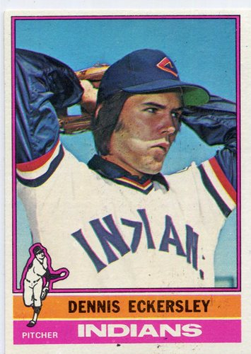 Photo of 1976 Topps #98 Dennis Eckersley Rookie Card -- Hall of Famer