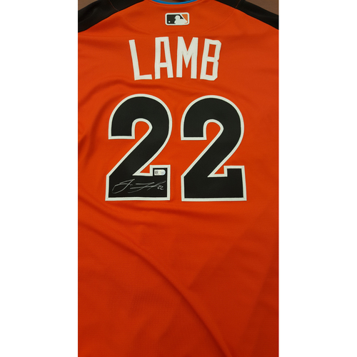 Photo of Jake Lamb 2017 Major League Baseball Workout Day/Home Run Derby Autographed Jersey