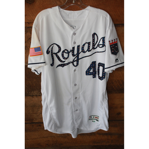 Photo of Game-Used Jersey: Kelvin Herrera (7/2/17 - MIN at KC - Size 46)