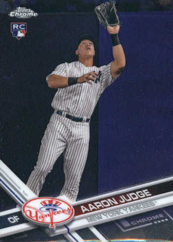 Photo of 2017 Topps Chrome #169A Aaron Judge Rookie Card -- Yankees post-season