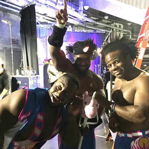 Photo of The New Day SIGNED Unicorn Stick (RAW - 11/23/15)