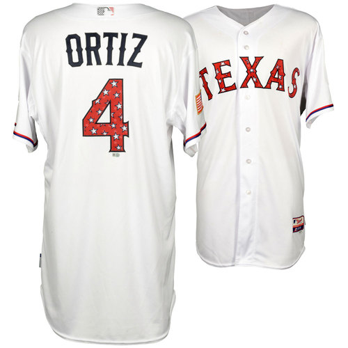 Photo of Hector Ortiz 2015 4th of July Game-Used Jersey