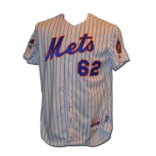 Photo of Erik Goeddel #62 - MLB Authenticated Team Issued 2015 Postseason Jersey - 2015 Postseason Patch on Right Sleeve