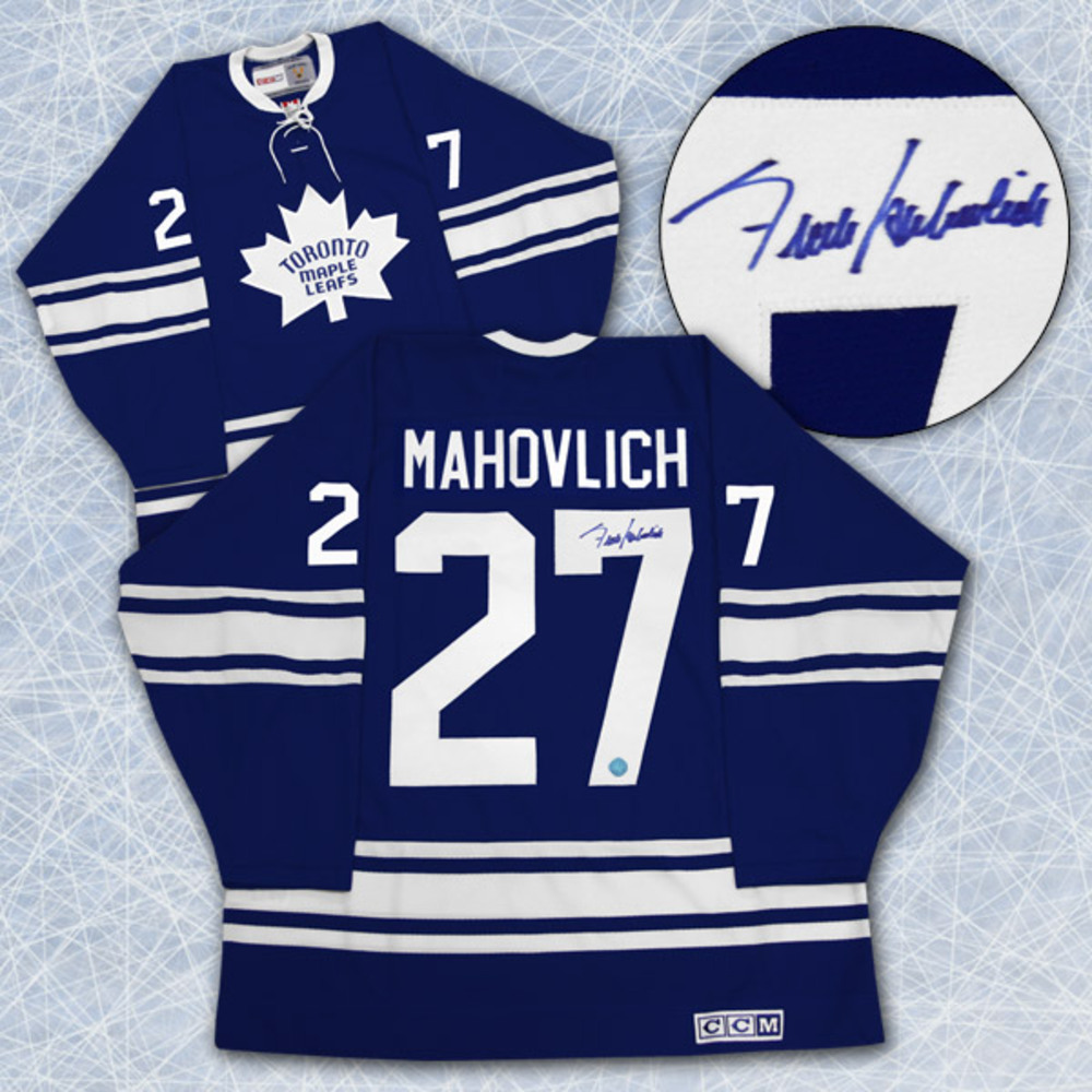 Frank Mahovlich Maple Leafs Autographed 1967 Stanley Cup Retro CCM Jersey