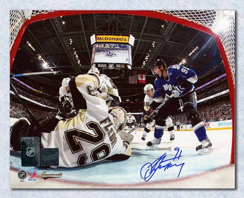Steven Stamkos Tampa Bay Lightning Autographed Netcam 8x10 Photo