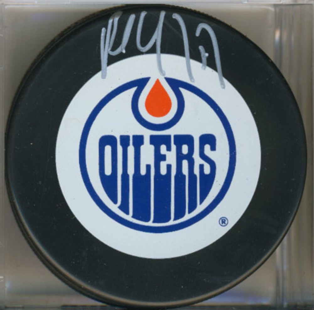 PAUL COFFEY Edmonton Oilers Autographed Hockey Puck