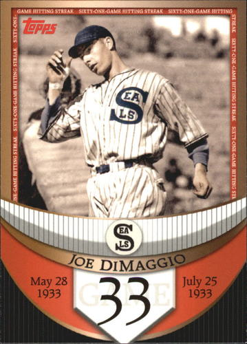 Photo of 2007 Topps DiMaggio Streak Before the Streak #JDSF33 Joe DiMaggio